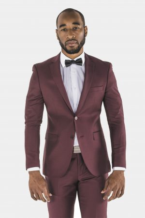 Bagozza burgundy suit