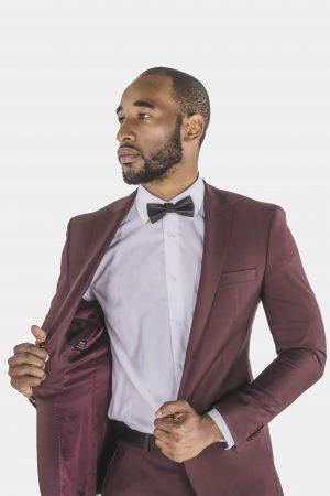 Bagozza burgundy suit